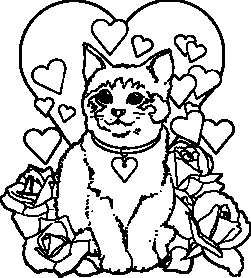 Coloriage chat migon - Dessin de chatte ...