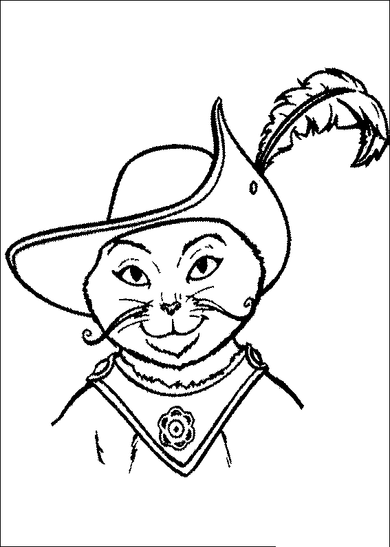 Coloriage Chat Botte A Imprimer.Coloriage De L Image Du Chapeau Du Chat Potte